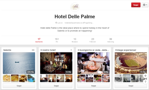 Hotel Delle Palme su Pinterest