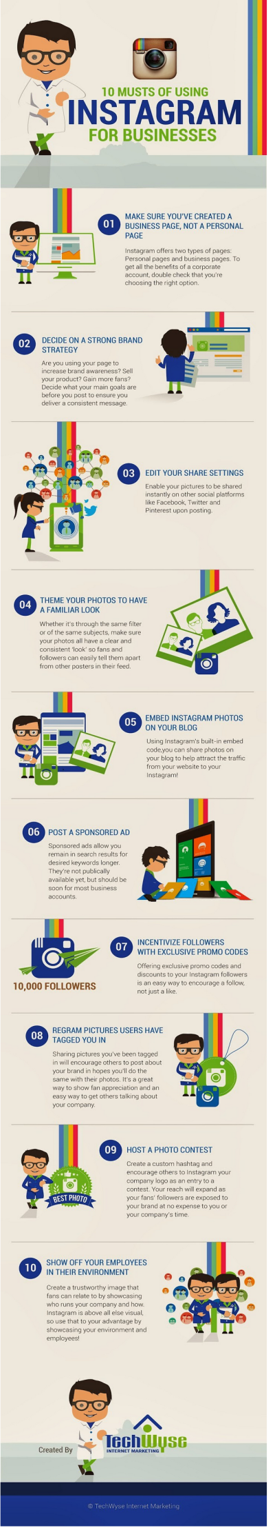 How To Use Instagram For Businesses  INFOGRAPHIC    Mobile Marketing   Rise to the Top Blog